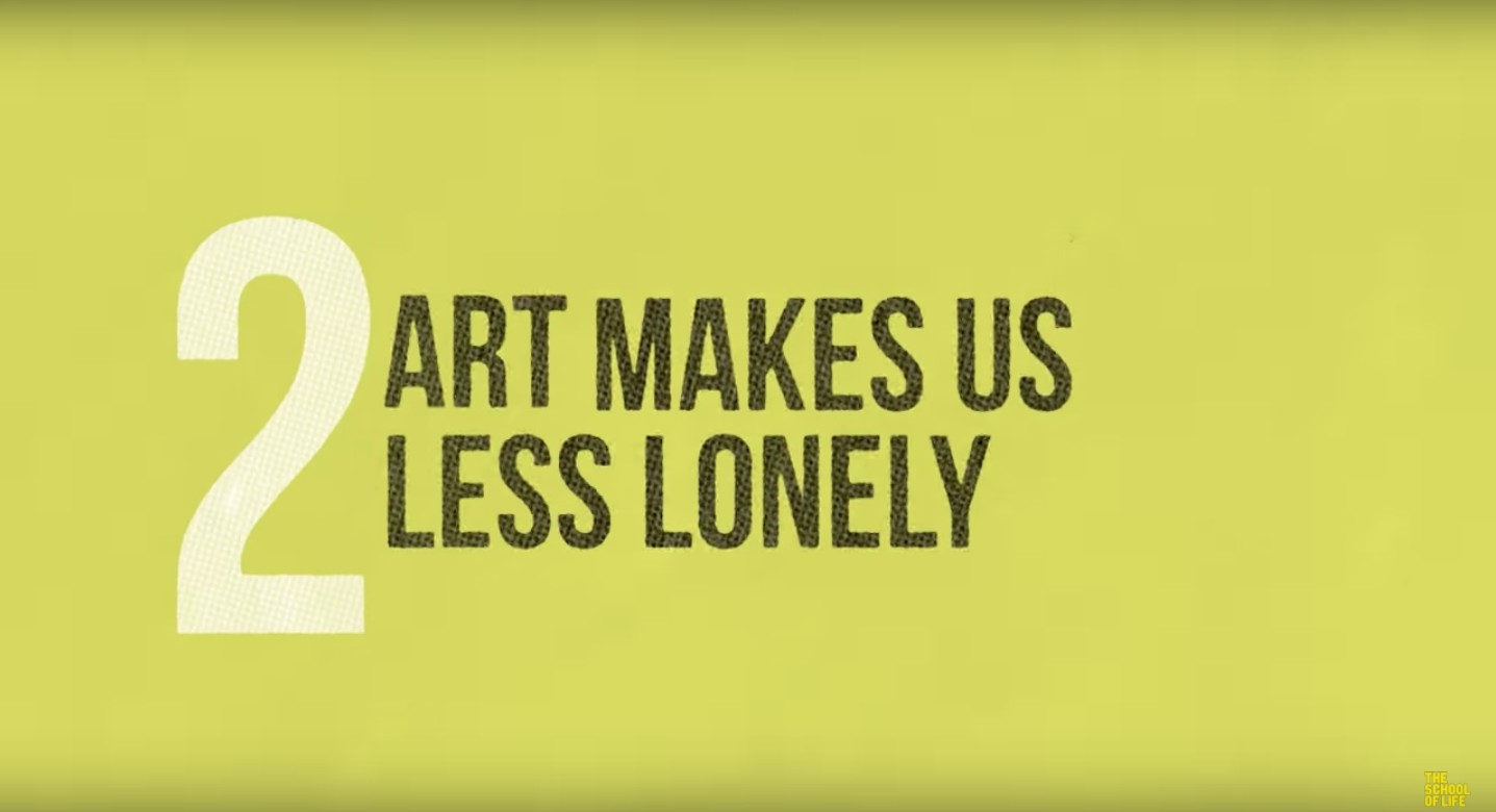 Art makes us less lonely