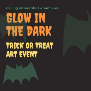 Glow in the Dark Art Event on Halloween