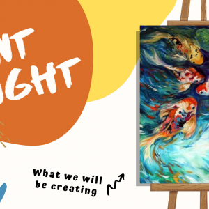 koi fish paint night