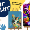 cats paint night