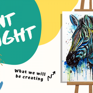 Paint night zebra