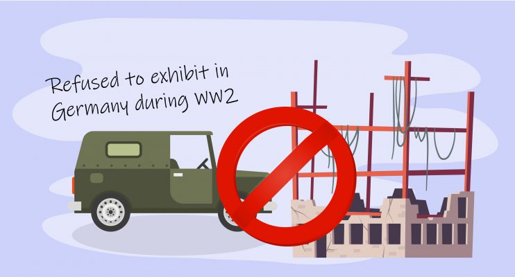 Irma refused to exhibit in Germany during WW2